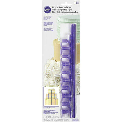 Wilton Plastic Support Rods and Caps | Cake Decorating
