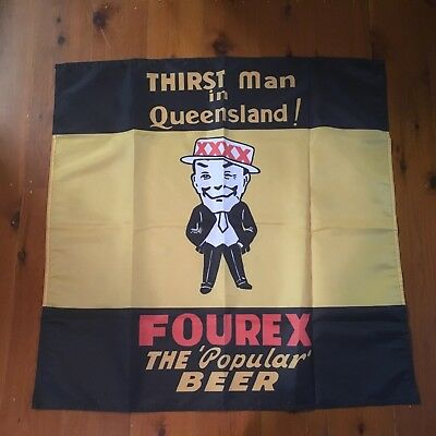 Qld Man cave wallhanging 30 x 30 inch pool room bar fourex XXXX beer shed sign