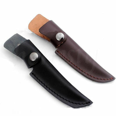 1pc Straight PU Leather Sheath Scabbard Case Bag For Fixed Blade Knife New