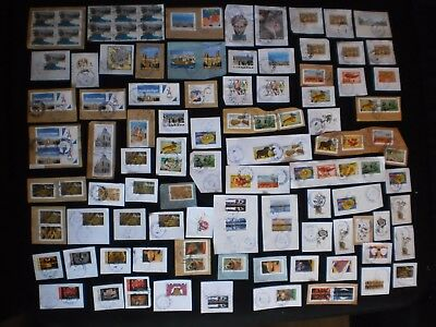 Lot 100 Timbres 2017 Obliteres Cachets Ronds