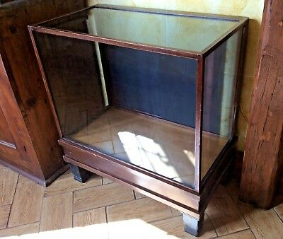 Vintage/Antique Small Glass Shop Display Counter Cabinet Haberdashery