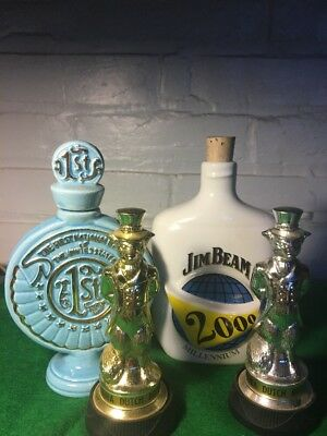 Lot Of Four Jim Beam Collectible Containers And Statues Limited Edition