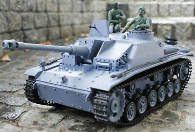 1/16 2.4G RC Henglong Smoke & Sound German Stug III Tank Metal Gearbox version