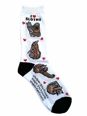 I love Sloths (50805) Women Socks Cotton New Gift Fun Unique Fashion