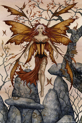 The Arrival By Amy Brown Fairy Art Print Poster 12x18