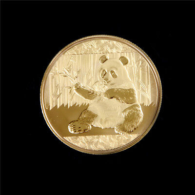 Gold-Plated Panda Baobao Commemorative Challenge Coin Collectible Gift +G FF