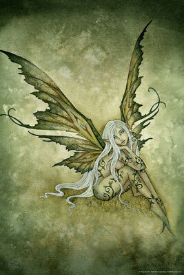 Green Sprite By Amy Brown Fairy Art Print Poster 12x18