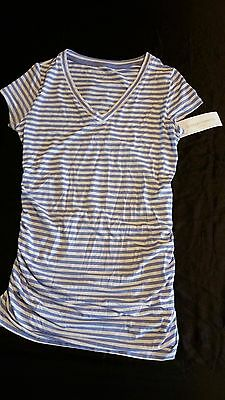 NWT Liz Lange Maternity Striped S/S Maternity Shirt