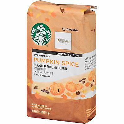 Starbucks Pumpkin Spice Ground Coffee 11 Oz . Limited Edition Free World Ship
