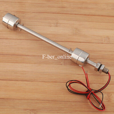 Stainless Steel Float Switch Double Ball Vertical Liquid Water Level Sensor 7.9""