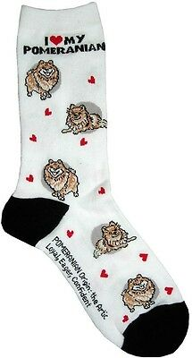 I Love My Pomeranian (631106) Women Socks Cotton New Gift Fun Unique Fashion