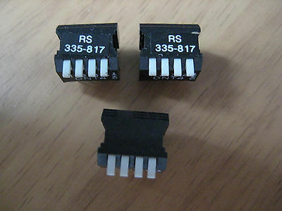 3 off 4 Way PCB Piano Switch DIL DIP Package RS335-817