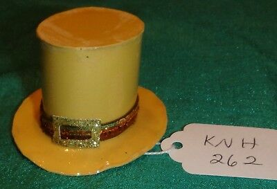 Yellow St Patrick's Top Hat w Brown Band & Gold Buckle Ken Barbie Dolls KNH262