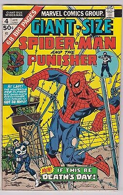 GIANT-SIZE SPIDER-MAN #4 VERY GOOD/FINE CONDITION 3rd PUNISHER APP BYRNE ART!