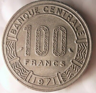 1971 CENTRAL AFRICAN REPUBLIC 100 FRANC - Exotic - FREE SHIPPING - Africa Bin #3