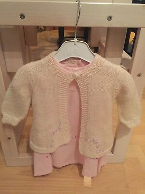 Baby girls dress and cardigan pink,6-9 months BRAND NEW