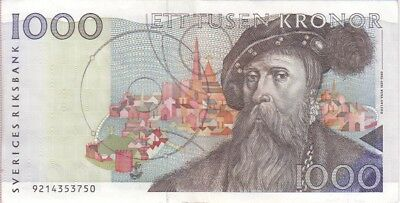 Sweden Banknote P.60-3750  1000 1.000 1,000 Kronor 1989 Extremely Fine