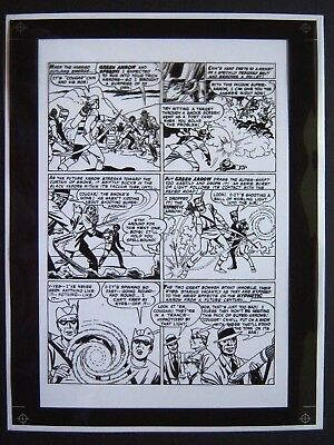 Original Production Art ADVENTURE COMICS #251, pg 4, JACK KIRBY art, Green Arrow