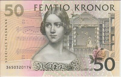 SWEDEN BANKNOTE  P62b-50 KRONOR 2003 UNCIRCULATED
