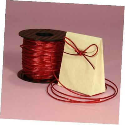 """red tinsel cord, 1/16"""""""