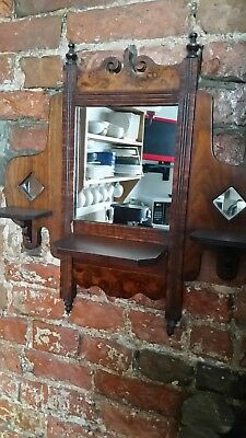 Vintage/Edwardian victorian mirror with shelves