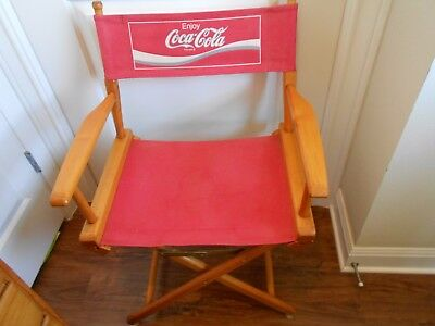 Coca Cola Directors Chair (Foldable) With Red Canvas Seat And Back