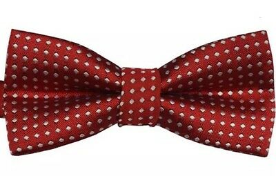 Wine Red Baby Boys Party Necktie Pre Tied Child Kids Tuxedo Bow Tie