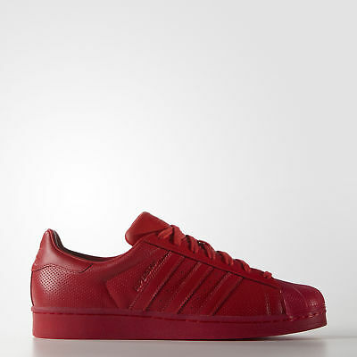 New adidas Originals Superstar Shoes S80326 Men's Red Sneakers