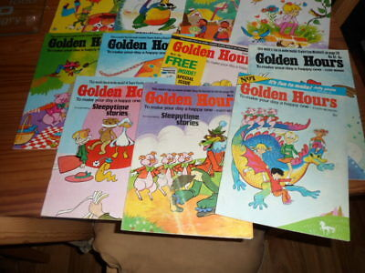 Vintage bronze age golden hours comic lot,1st issue included,1972,fine condition