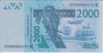WEST AFRICAN STATES P. 916Kd SENEGAL 2000 2.000 2,000 FRANCS 2007 UNCIRCULATED