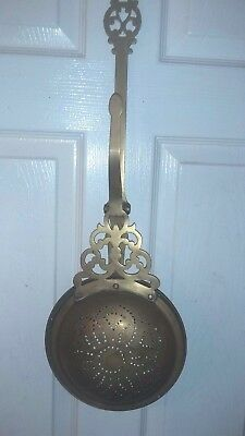 Vintage Brass  Chestnut Roaster