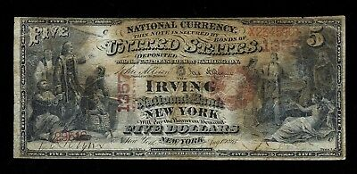 1875 $5 CH# 1357 IRVING National Bank or NY