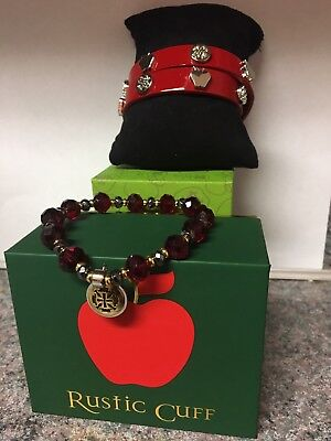 Rustic Cuff Of The Month Apple Teacher Set