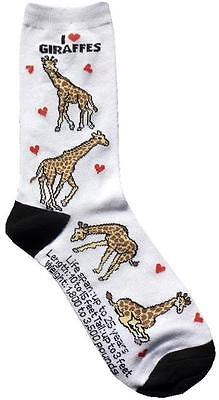 I love Giraffe (33748) Women Socks Cotton New Gift Fun Unique Fashion