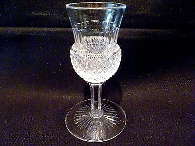 Antique IRISH THISTLE Cut Crystal LIQUEUR CORDIAL Glass GOBLET