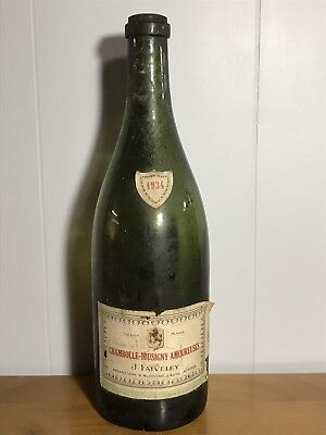 1934 J. Faiveley - Chambolle Musigny Amoureuses  - Empty Wine Bottle - Rare!