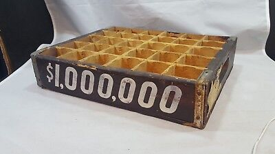 Vintage*RARE*MILLION DOLLAR Grape Soda 24 bottle wooden tray case 1940s coke