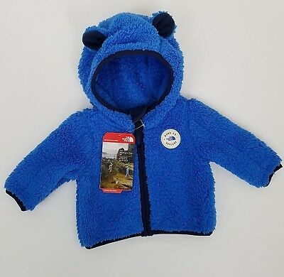 The North Face Plushee Bear Hoodie 0-3 12-18 Months Jacket Coat Jake Blue New