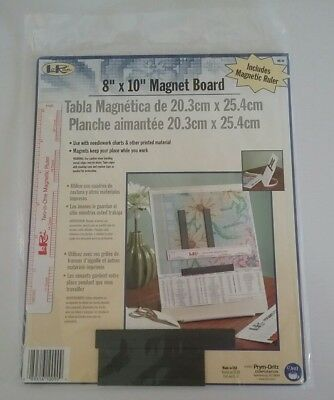 """Loran 8"""" X 10"""" Magnetic Board To Hold Charts For Cross Stitch, Crochet Etc."""