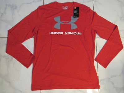 Under Armour Mens Heatgear Loose Long Sleeve Tshirt Red New Large!!