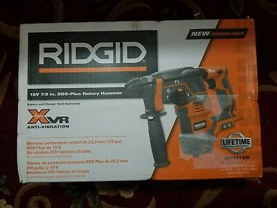 "New Ridgid R86710B Cordless 18-Volt 7/8"" Sds-Plus Rotary Hammer-F/sp"