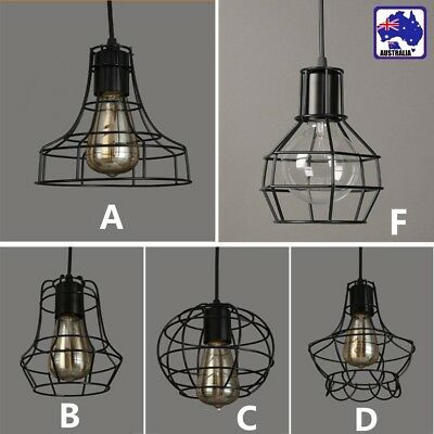 Mix Vintage Metal Wire Cage Hanging Lamp Shade Pendant Light Chandelier HLIG804