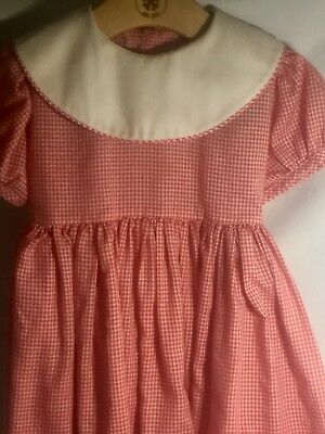 Mondays Child Vintage Dress Red and White size 4 girls USED