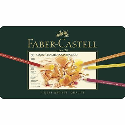 Faber-Castell Polychromos Pencil Set, 60 Tin