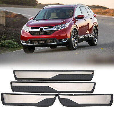 4x Stainless Steel Door Sill Trim plate Protectors Guard For Honda CRV 2017 2018