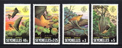 Seychelles 1981 Flying Foxes Set 4 MNH