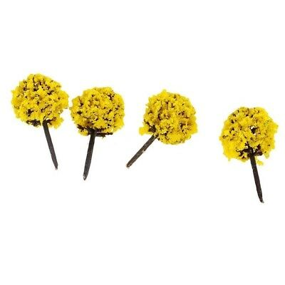 50pcs 20 X 30mm N Z GAUGE SCALE YELLOW FLOWER FRUIT TREES SHRUBS