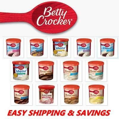 Betty Crocker Cake Toppings Spreads Frosting Whipped Creamy PACK OF 2 EASY SHIP