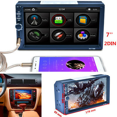 7'' 2DIN Touch Screen Car Radio Stereo MP5 MP3 Player Bluetooth + AM RDS TFT AUX