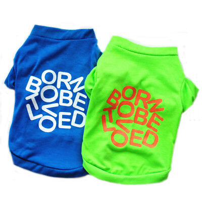 Pet Dog Vest Clothes Puppy Cat T-Shirt Coat Sweater Letter Printed Doggy Apparel